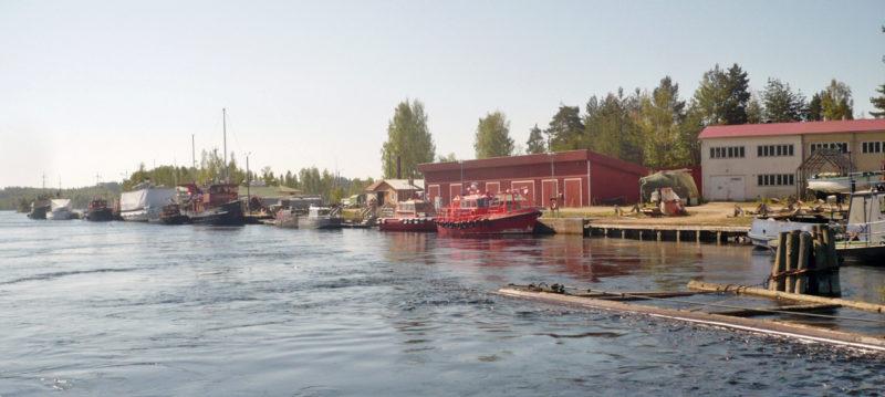 Historiallinen Laitaatsillan telakka.