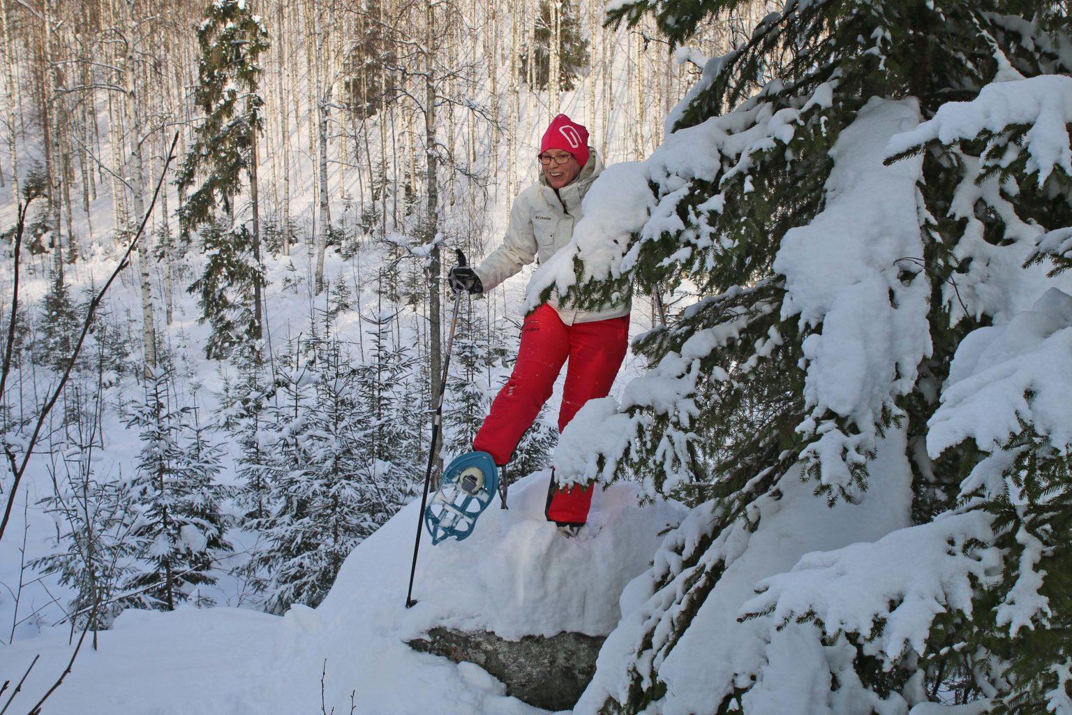 Lumikenkäretki Savonlinna